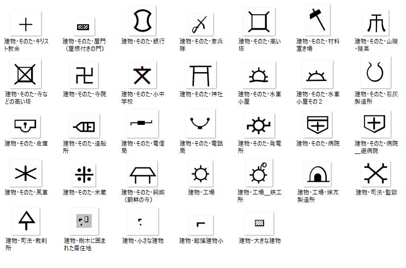 記号 田んぼ 地図